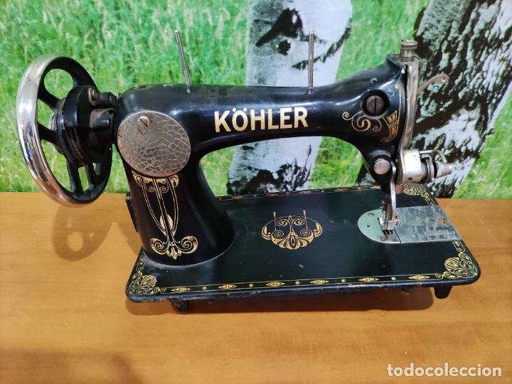 Antigüedades: Antigua maquina de coser marca Köhler - Foto 6 - 220285587