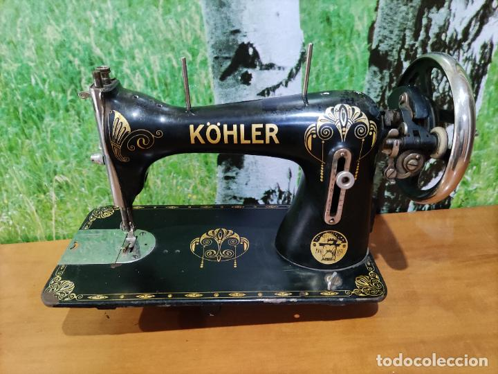 ANTIGUA MAQUINA DE COSER MARCA KÖHLER (Antigüedades - Técnicas - Máquinas de Coser Antiguas - Otras)