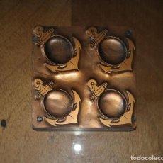 Antigüedades: ANTIGUA PLANCHA DE IMPRENTA, ANCLA BARCO, BASE EN COBRE.. Lote 220289123