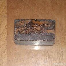 Antigüedades: ANTIGUA PLANCHA DE IMPRENTA, BARCO.. Lote 220290885
