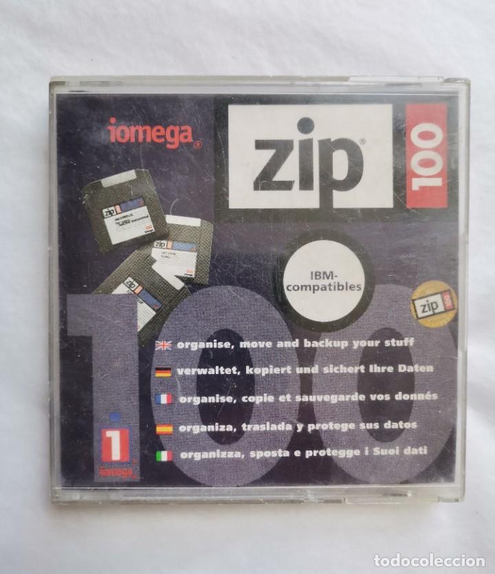 ANTIGUO DISQUETTE IOMEGA 100 ZIP (Antigüedades - Técnicas - Ordenadores hasta 16 bits (anteriores a 1982))