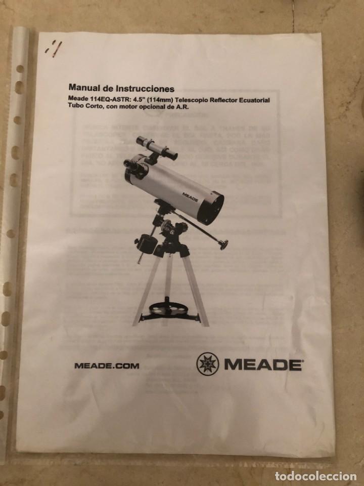 Antigüedades: TELESCOPIO MEADE 114 REFLECTOR ECUATORIAL - Foto 7 - 220415423