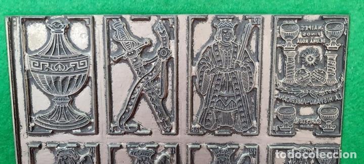 Antigüedades: MATRIZ DE METAL. NAIPES FINOS LA HISPANO AMERICANA. JOAN ROURA. CIRCA 1920. - Foto 3 - 220445637
