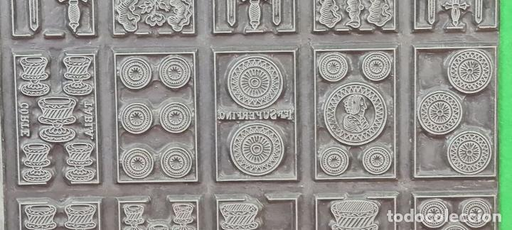 Antigüedades: MATRIZ DE METAL. NAIPES FINOS LA HISPANO AMERICANA. JOAN ROURA. CIRCA 1920. - Foto 3 - 220446523