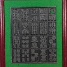 Antigüedades: MATRIZ DE METAL. NAIPES FINOS LA HISPANO AMERICANA. JOAN ROURA. CIRCA 1920.. Lote 220446523
