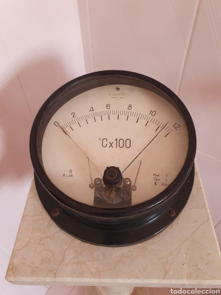 AMPERIMETRO DE GRAN TAMAÑO POR FAVOR LEER DESCRIPCIÓN (Antigüedades - Técnicas - Herramientas Profesionales - Electricidad)