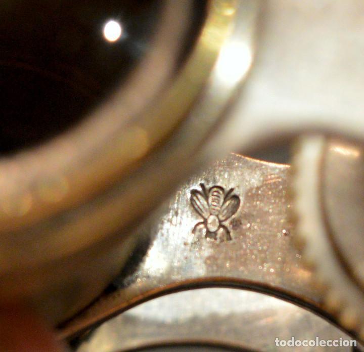 Antigüedades: ANTIGUOS BINOCULARES PRISMATICOS OPERA TEATRO EN NACAR - Foto 8 - 220479360