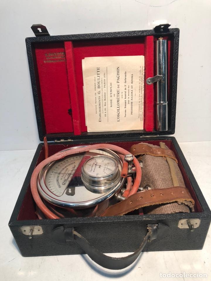 OSCILOMETRO DE G BOULITTE PARIS EN SU CAJA ORIGNAL ANTIGUO. (Antigüedades - Técnicas - Herramientas Profesionales - Medicina)