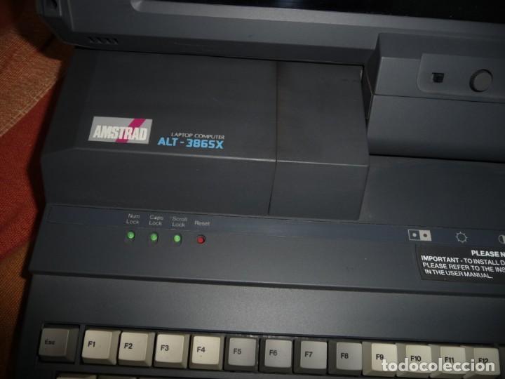 Antigüedades: PORTATIL AMSTRAD LAPTOR COMPUTER ALT-386SX,FUNDA ORIGINAL E IMPRESORA PORTATIL - Foto 2 - 220541856