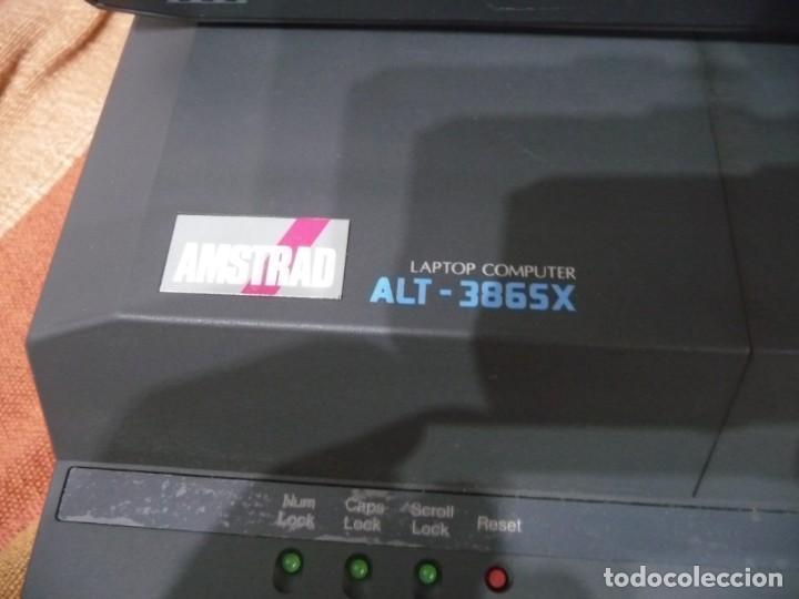 Antigüedades: PORTATIL AMSTRAD LAPTOR COMPUTER ALT-386SX,FUNDA ORIGINAL E IMPRESORA PORTATIL - Foto 3 - 220541856