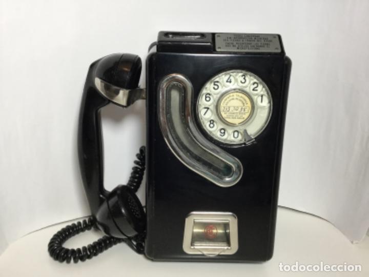 CABINA DE TELÉFONO ANTIGUA DE FICHAS TELEFÓNICA ESPAÑA ( ÚNICA EN TC ) (Antigüedades - Técnicas - Teléfonos Antiguos)