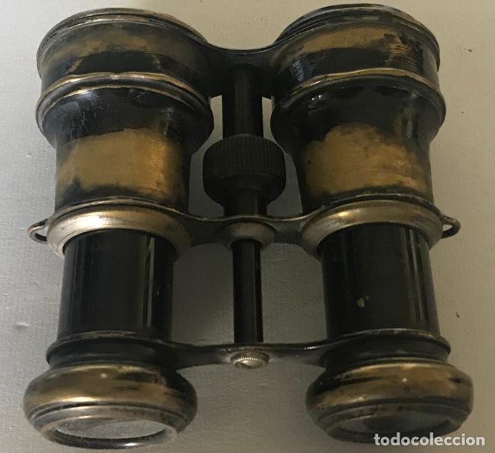 Antigüedades: Prismáticos ingleses con pequeña brújula de mediados del siglo XX. - Foto 9 - 220604160