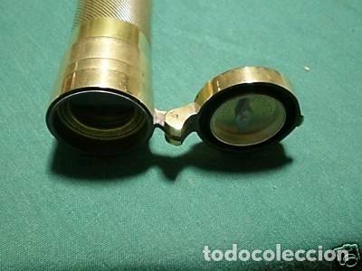 Antigüedades: Telescopio inglés con brújula de la primera mitad del siglo XX - Foto 4 - 220606528