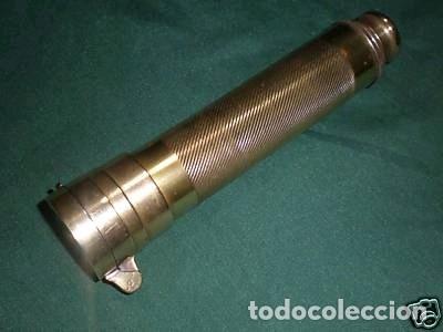 TELESCOPIO INGLÉS CON BRÚJULA DE LA PRIMERA MITAD DEL SIGLO XX (Antigüedades - Técnicas - Instrumentos Ópticos - Catalejos Antiguos)