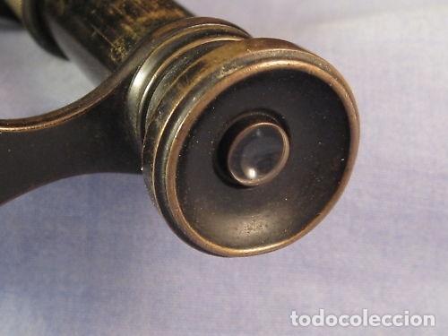 Antigüedades: Par de binoculares ingleses de mediados del siglo XIX - Foto 6 - 220608168