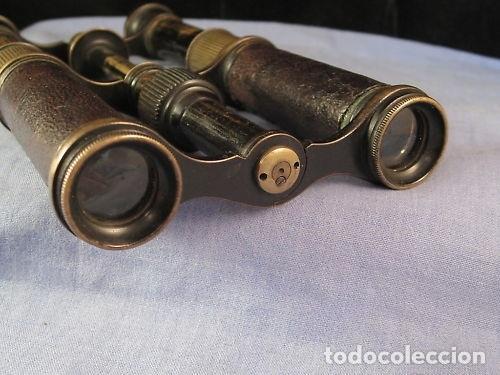 Antigüedades: Par de binoculares ingleses de mediados del siglo XIX - Foto 7 - 220608168