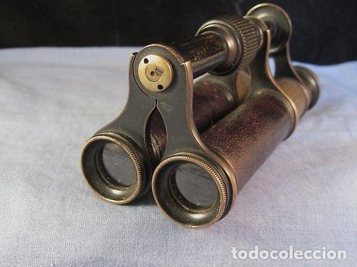 Antigüedades: Par de binoculares ingleses de mediados del siglo XIX - Foto 11 - 220608168