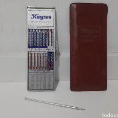 Antiquités: CALCULADORA MANUAL KINGSON POCKET CALCULATOR CON FUNDA. Lote 220682288
