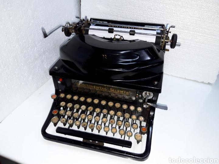 ANTIGUA MAQUINA DE ESCRIBIR TYPEWRITER SCHREIBMASCHINE CONTINENTAL SILENTA (Antigüedades - Técnicas - Máquinas de Escribir Antiguas - Continental)