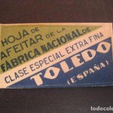 Antigüedades: TOLEDO. ANTIGUA HOJA DE AFEITAR. CONTIENE LA HOJA. Lote 51090096