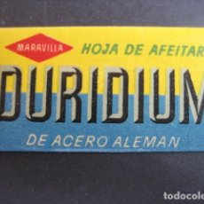 Antigüedades: DURIDIUM. ANTIGUA HOJA DE AFEITAR. CONTIENE LA HOJA. Lote 51090356