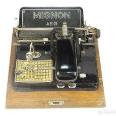 Antigüedades: MAQUINA DE ESCRIBIR MIGNON Nº4 AÑO 1924 TYPEWRITER SCHREIBMASCHINE MACHINE. Lote 220798438