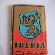 Antigüedades: IBERIA CEFINO ACANALADA. ANTIGUA HOJA DE AFEITAR. CONTIENE LA HOJA. Lote 51090009