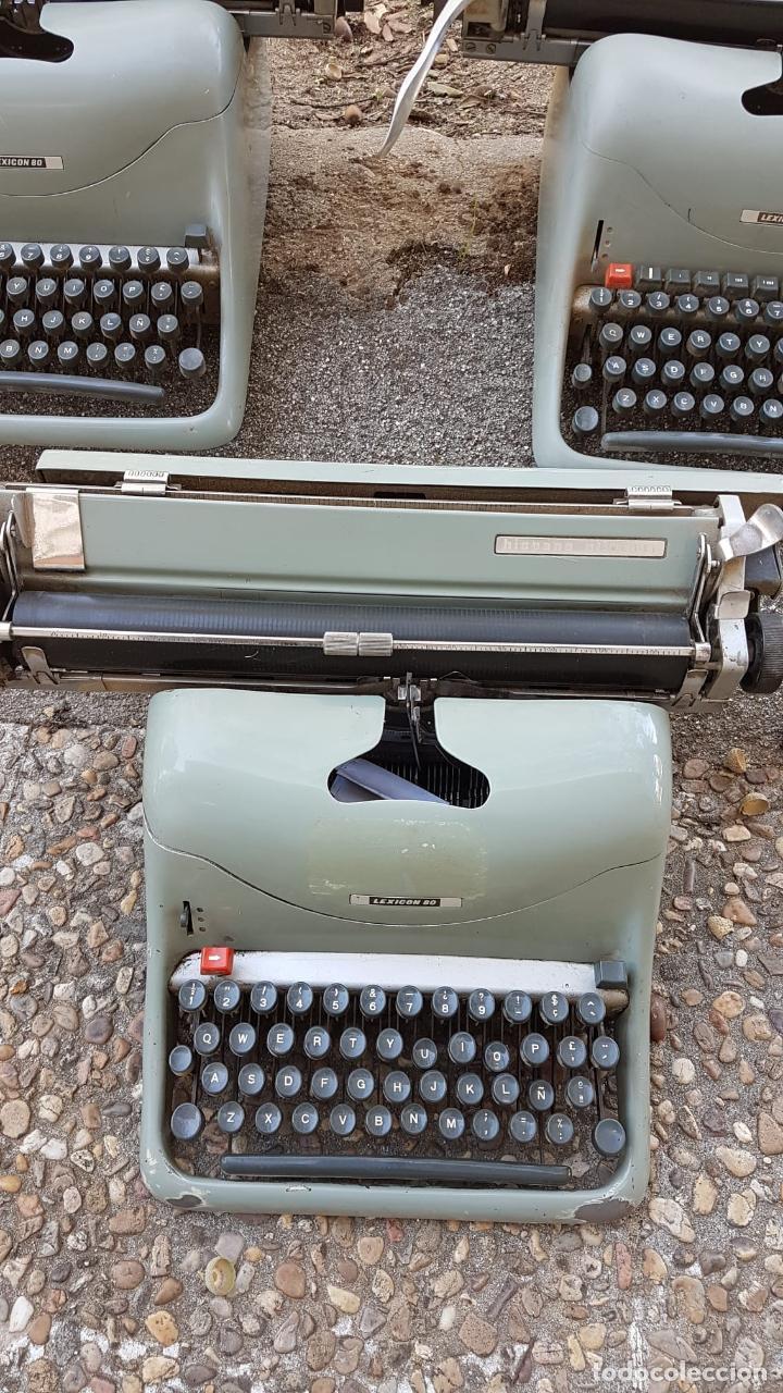Antigüedades: Lote 3 máquinas de escribir Lexicon - Foto 4 - 220800355