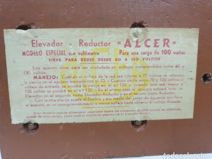 Antigüedades: Voltímetro Alcer - Foto 7 - 220875071