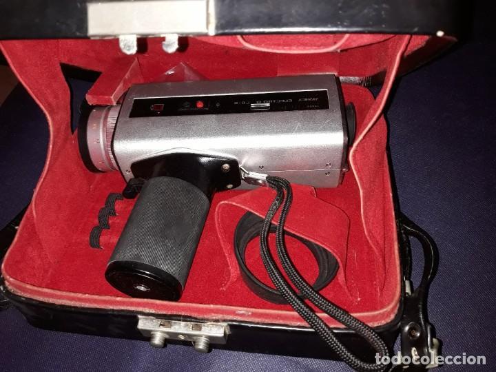Antigüedades: Cámara Super Yashica Electro 8 LD6 Con Estuche Original - Foto 2 - 220880165