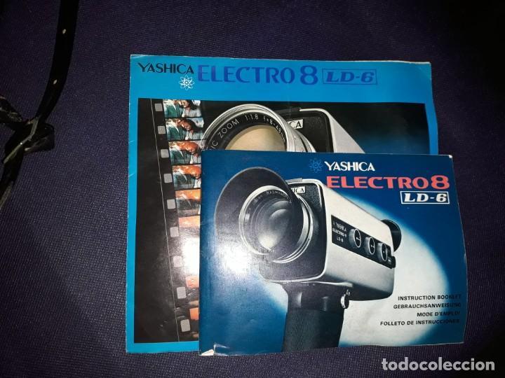 Antigüedades: Cámara Super Yashica Electro 8 LD6 Con Estuche Original - Foto 3 - 220880165