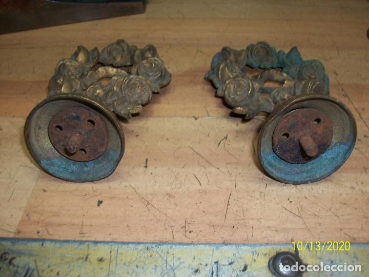 Antigüedades: PAREJA DE TIRADORES/POMOS - Foto 2 - 220896911