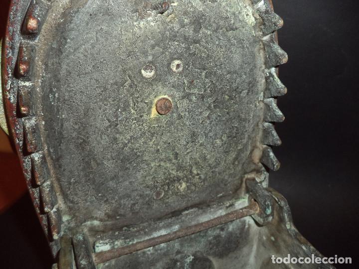 Antigüedades: Antiga e Grande Plancha a carbon com curiosa inscrição - Foto 11 - 220923751