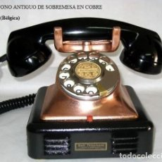 Téléphones: TELÉFONO ANTIGUO BELGA (BELL 1940) -FUNCIONANDO- 100% . COBRE Y BAQUELIA NEGRA. MUY BONITO. Lote 220947890