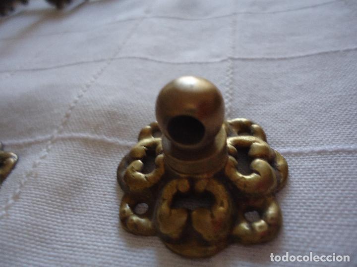 Antigüedades: 6 tiradores de bronce principios siglo XX - Foto 3 - 220984255