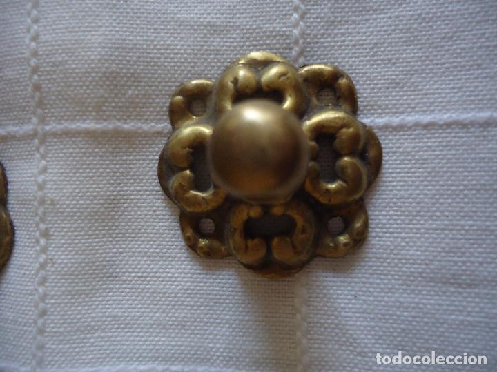 Antigüedades: 6 tiradores de bronce principios siglo XX - Foto 4 - 220984255