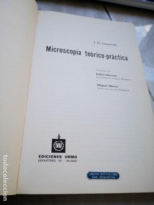 Antigüedades: MICROSCOPIA TEÓRICO PRÁCTICA, CASARTELLI - Foto 3 - 220946418