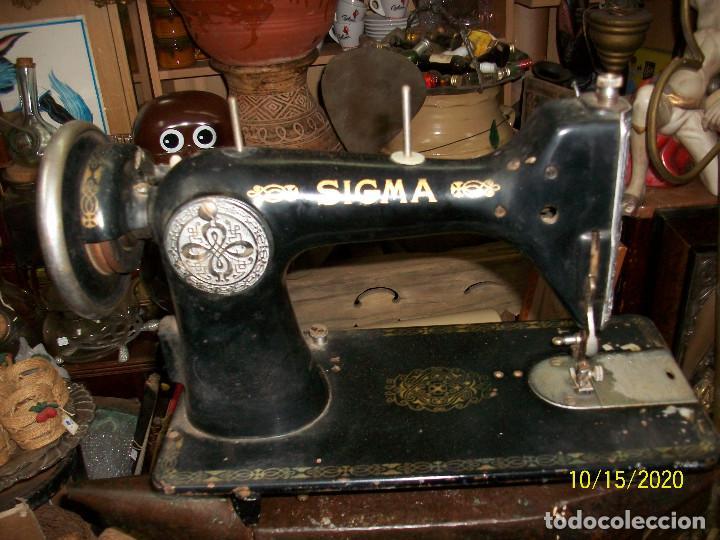ANTIGUA CABEZA DE MAQUINA DE COSER SIGMA (Antigüedades - Técnicas - Máquinas de Coser Antiguas - Sigma)