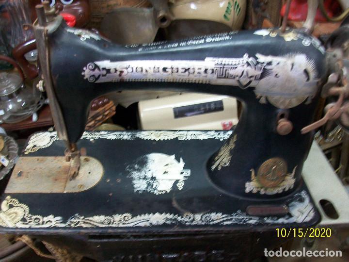 ANTIGUA CABEZA DE MAQUINA DE COSER SINGER (Antigüedades - Técnicas - Máquinas de Coser Antiguas - Singer)