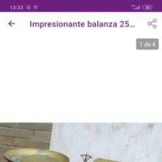 Antigüedades: IMPRESIONANTE BALANZA 25 KG. Lote 221364625