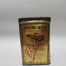 Antigüedades: SINAPISMO UNITEX , CAJA METAL MEDICAMENTO 50UNI.. Lote 221428048