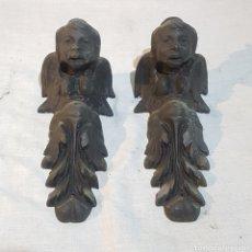 Antigüedades: ANTIGUOS SOPORTES DE HIERRO FORJADO. Lote 221444388