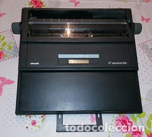 MÁQUINA DE ESCRIBIR ELECTRÓNICA OLIVETTI ET PERSONAL 530 + MANUAL DE INSTRUCCIONES EN ESPAÑOL (Antigüedades - Técnicas - Máquinas de Escribir Antiguas - Otras)