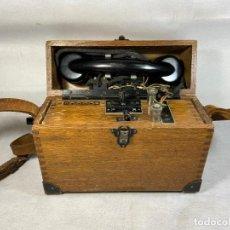 Teléfonos: ANTIGUO TELÉFONO DE CAMPAÑA 1940`S - LA OPALINA. Lote 221528912