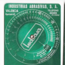 Antigüedades: CALCULADOR DE VELOCIDADES - INDUSTRIAS ABRASIVAS. Lote 221541463