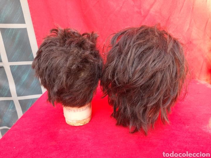 Antigüedades: Viejas cabezas maniquí con pelo natural para practicar peluquería - Foto 8 - 221617447