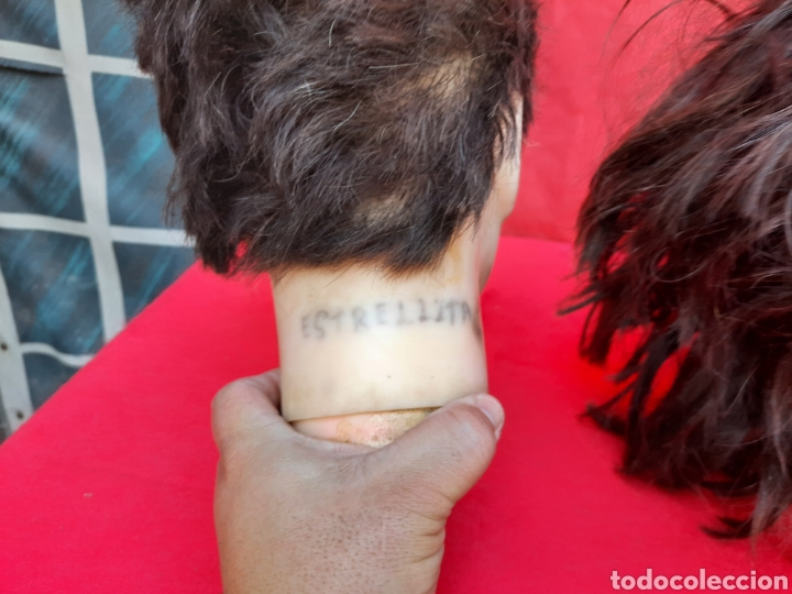 Antigüedades: Viejas cabezas maniquí con pelo natural para practicar peluquería - Foto 9 - 221617447