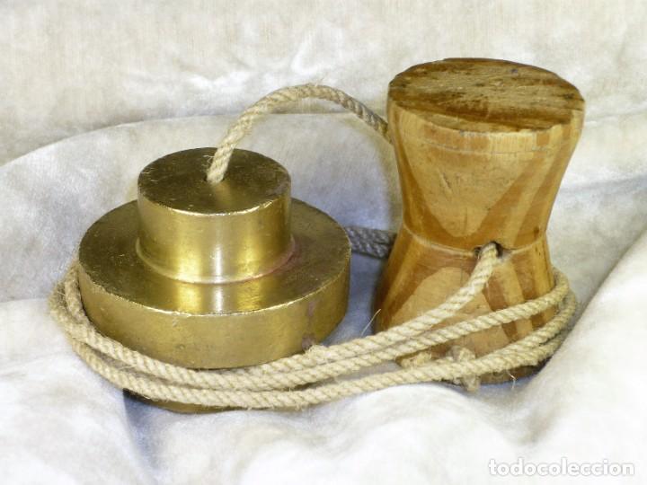 Antigüedades: Plomada para Construcción con Nuez. S.XIX Plumb for Construction with Nut. - Foto 2 - 221641628