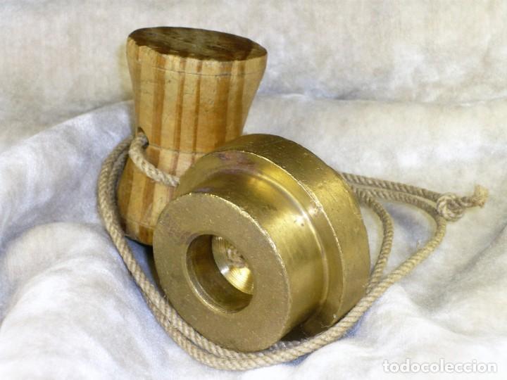 Antigüedades: Plomada para Construcción con Nuez. S.XIX Plumb for Construction with Nut. - Foto 5 - 221641628