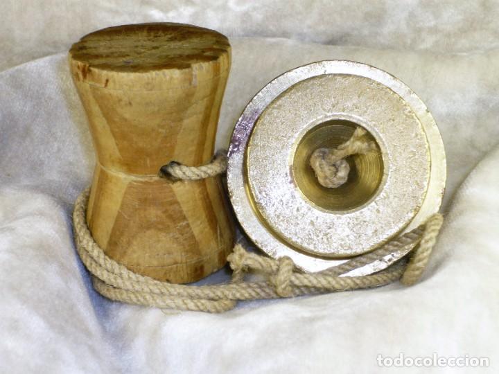 Antigüedades: Plomada para Construcción con Nuez. S.XIX Plumb for Construction with Nut. - Foto 6 - 221641628